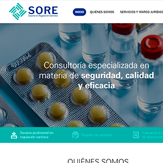 sitio web sore equilibrio visual